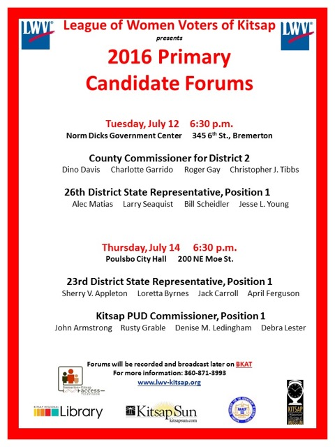 2016 Primary Candidate Forums - 8.5x11