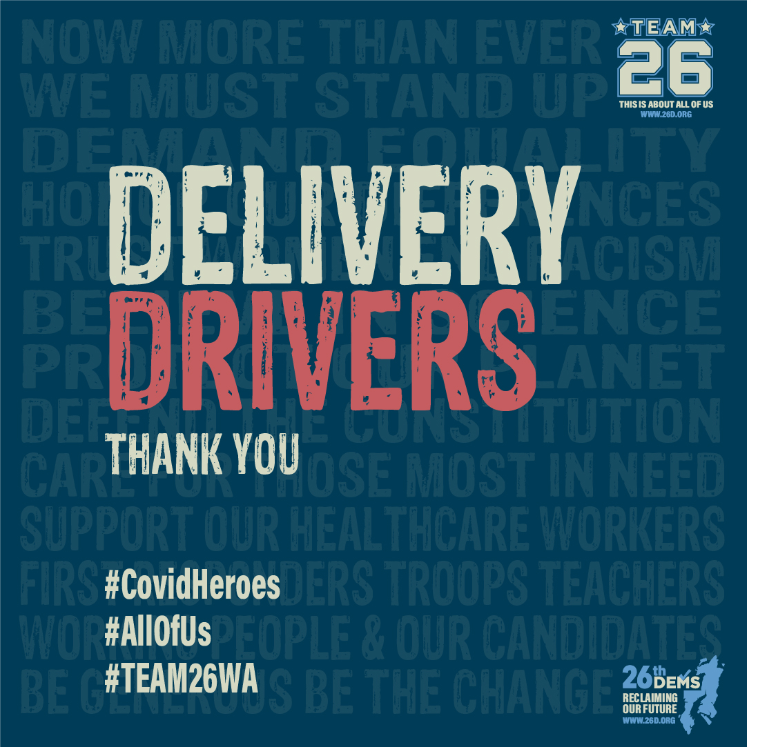 Thank You Delivery Drivers